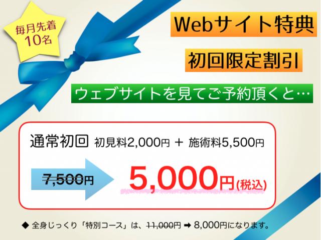 Web初回限定キャンペーン